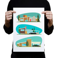 Hollywood Bungalows Artprint