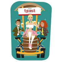 Promotional Wee Toast Tours Illustration