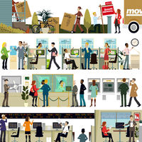 Supporting Editorial Illustrations for a Money Magazine Feature Article