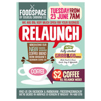 Foodspace Relaunch Flyer